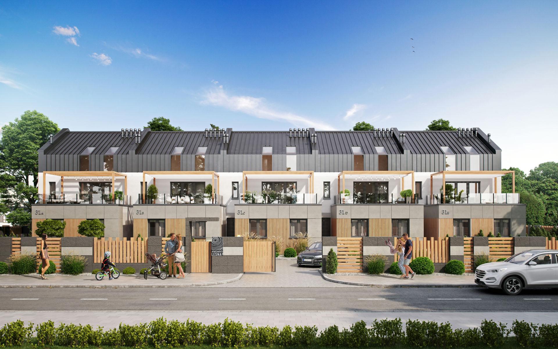 Zespół budynków mieszkalnych w zabudowie szeregowej
