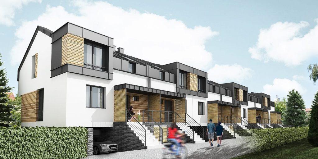 Zespół budynków mieszkalnych wzabudowie szeregowej